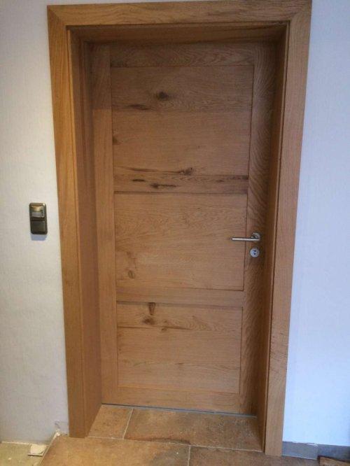Zimmertür Aus Eiche Massivholz