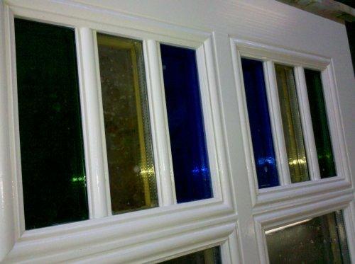 Dreifarbige Verglasung (Denkmalschutz)